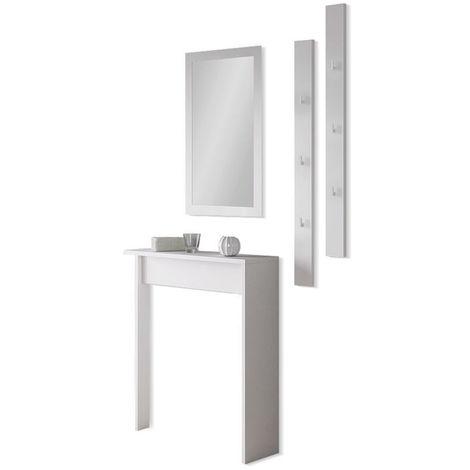 Set Arredo Ingresso//Mobili per Corridoio//Mobile Ingresso con Specchio//Bianco Selsey SARID