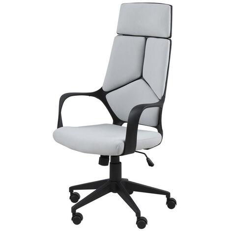Selsey SELEDON - Schreibtischstuhl / ergonomischer Bürostuhl in Grau, höhenverstellbar mit Drehfunktion