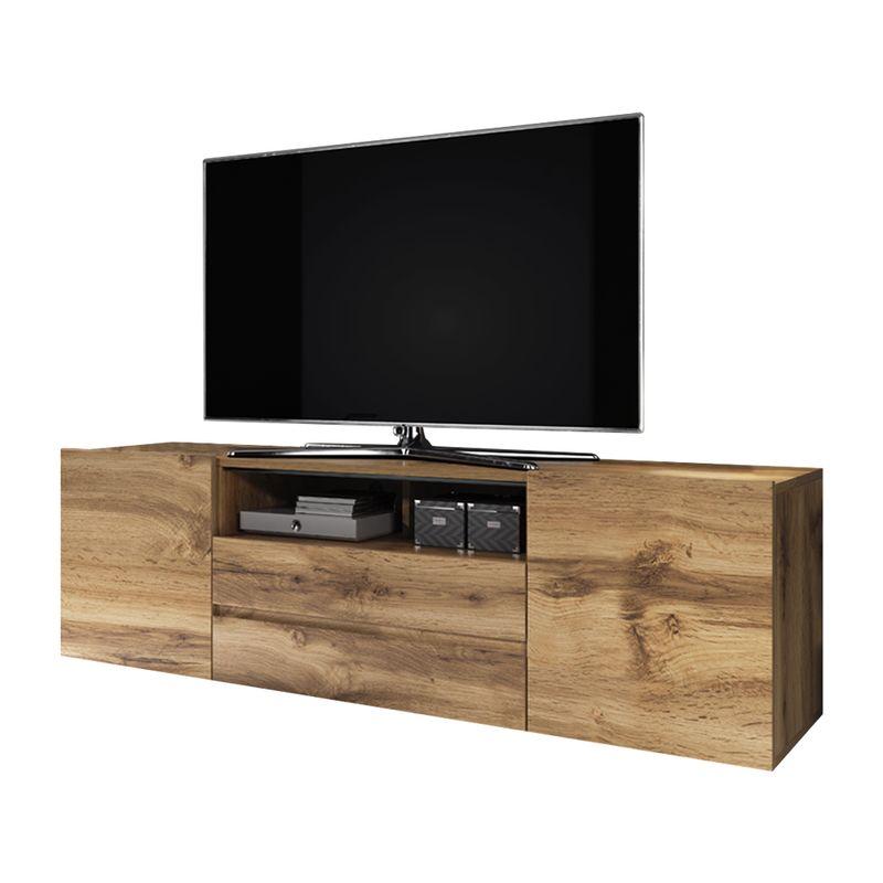 Selsey - TV-Lowboard BROS matte Holzoptik Wotan Eiche, stehend, modern, 137 cm