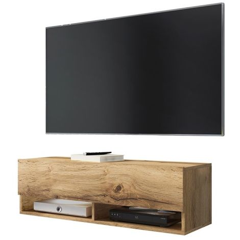 Selsey WANDER - Meuble tv / Banc tv (chêne wotan, 100 cm, sans LED)
