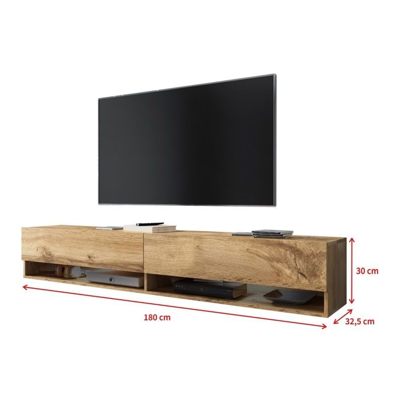Selsey Wander Meuble Tv Banc Tv Chene Wotan 180 Cm Sans Led Mm5903025132624