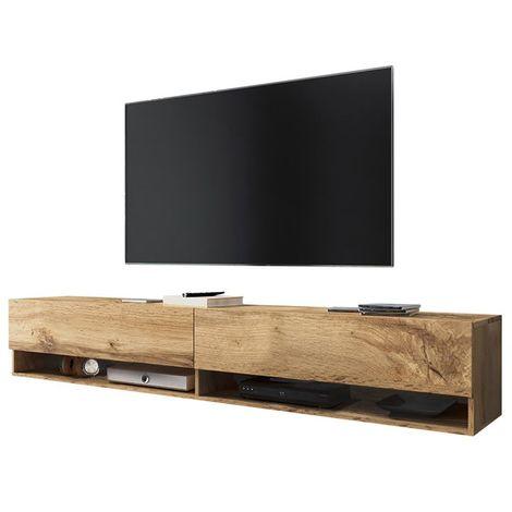 Selsey WANDER - Meuble tv / Banc tv (chêne wotan, 180 cm, sans LED)