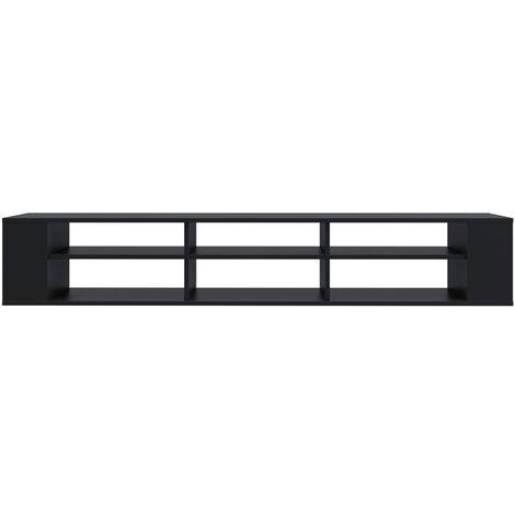 "main image of ""Selsey Weri - Modern Floating TV Stand - 175 cm - Black"""