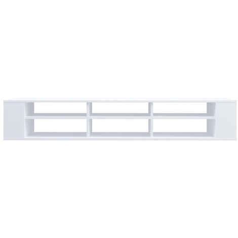 """main image of """"Selsey Weri - Modern Floating TV Stand - 175 cm - White"""""""