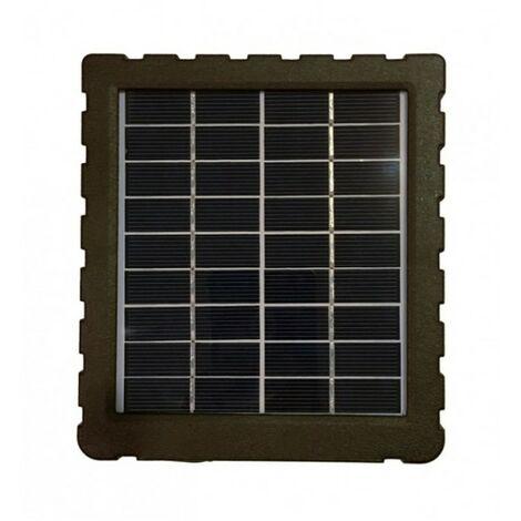 SEMAC Panneau solaire 12Volts pour caméra de chasse 4G Batterie intégrée 1500mAh 4 voyants Led pour état batterie IP54