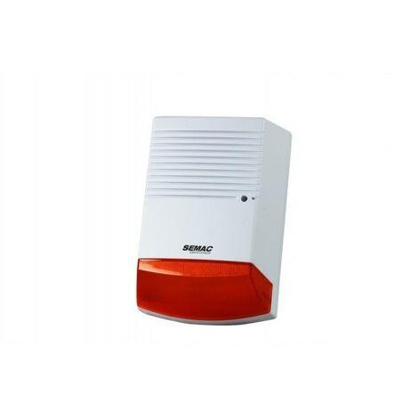 SEMAC SIRENE FACTICE 1 LED ALM 569 Surveillance alarme