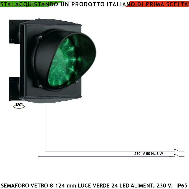 Semaforo Verde Lampada Incandescenza Intercambiabile 220 V 70 W E27 Ripetitore Segnale Via Libera Ss-Suve271Lga