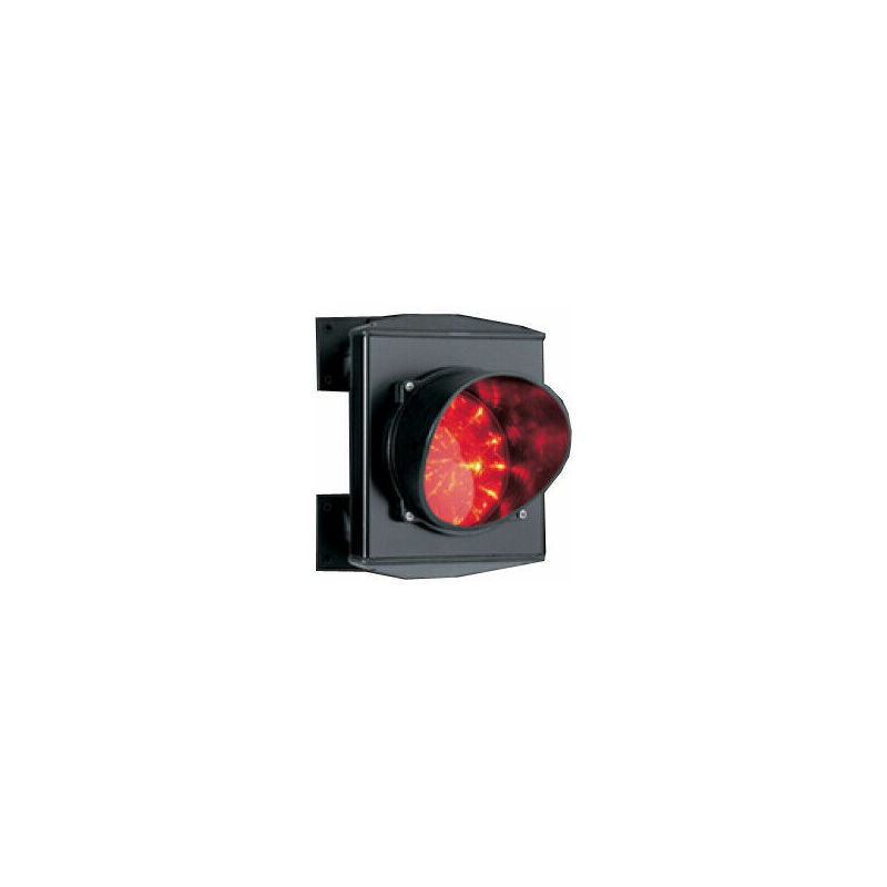 Semaforo Rosso Singola 1 Luce 24v Led Lampada Monolampada Parcheggio Impianto