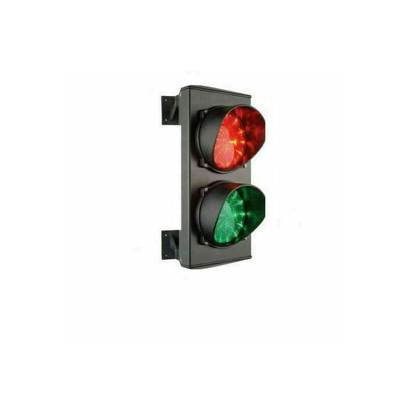 Semaforo Rosso Verde Doppia Due 2 Luci 24v Led Lampada Parcheggio Impianto Varco