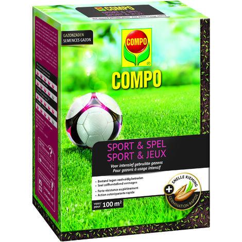 Semences de gazon Compo Sport & Jeux (100m²) 2kg