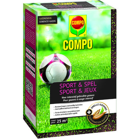 Semences de gazon Compo Sport & Jeux (25m²) 500g