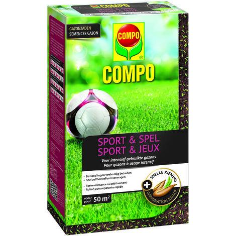 Semences de gazon Compo Sport & Jeux (50m²) 1kg