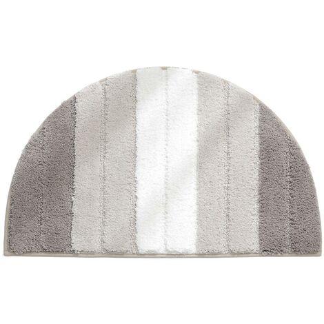 Semi-circular doormat, soft absorbent bathroom mat, non-slip semi-circle doormat, entrance door mat, carpeted floor mat, indoor and outdoor shower mat (light brown gradient)