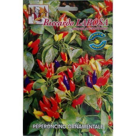 Semi di peperoncino ornamentale certificati in confezione sigillata frutescens