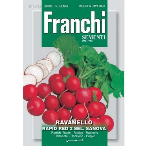 SEMI ORTO FRANCHI RAVANELLO RAPI RED 2 ART D112/29