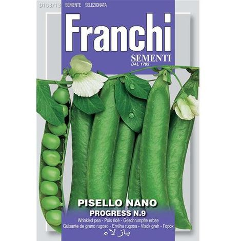 SEMI ORTO PISELLO NANO PROGRESS N.9 FRANCHI