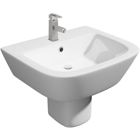 Semi Pedestal Basin White 538mm