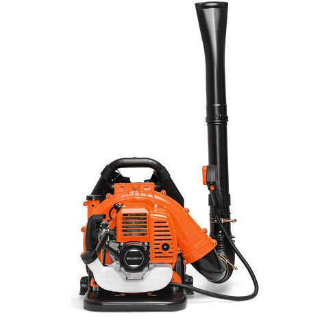 Semi-Professional Petrol Backpack Leaf Blower 43cc 2-Stroke engine, 1.25Kw and 150Km/h. max speed.