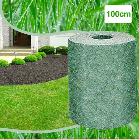 Semilla biodegradable Hierba Mat estera de la paja de fertilizantes de jardin de picnic cesped del patio trasero de siembra crecen, 1m