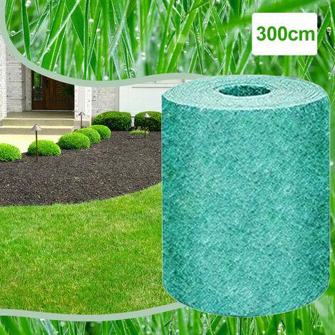Semilla biodegradable Hierba Mat estera de la paja de fertilizantes de jardin de picnic cesped del patio trasero de siembra crecen, 3m