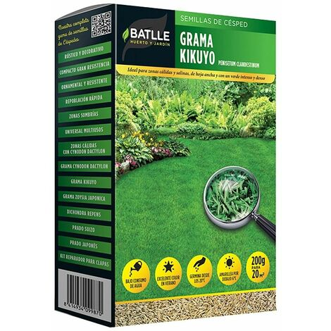 Semillas césped grama Kikuyo 500 g