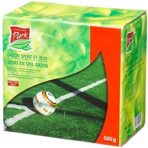 Semillas de césped - Central Park - 10kg - 500m² - Versátil idoneidad del suelo - Germinación rápida - Ideal para campos de deporte