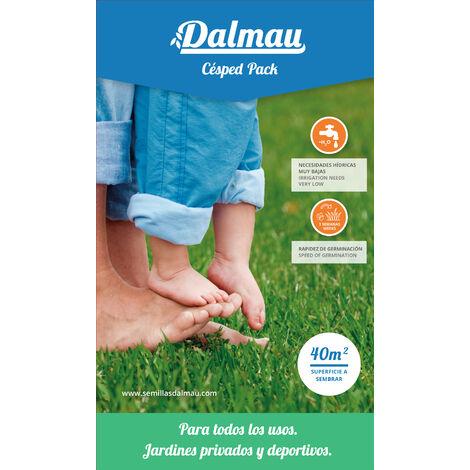 Semillas de Césped - MEZCLA PACK - Mezcla de semilla de uso habitual para jardines y zonas deportivas, de mantenimiento medio y bajo consumo. - 1 kg - Dalmau