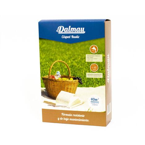 Semillas de Césped - MEZCLA RUSTIC - 1 kg - Mezcla de céspedes, bajo mantenimiento y riego, verde todo el año - Dalmau