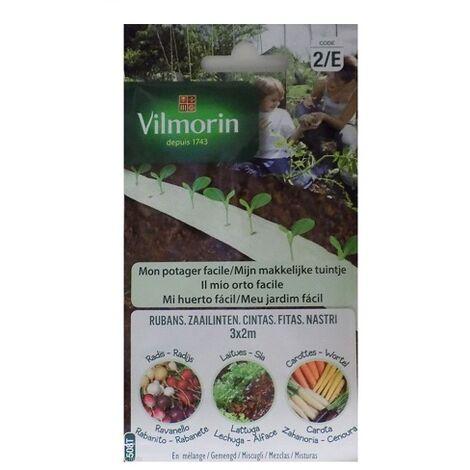 Semillas de LECHUGA, RABANITO y ZANAHORIA Vilmorin (Cultivo fácil)