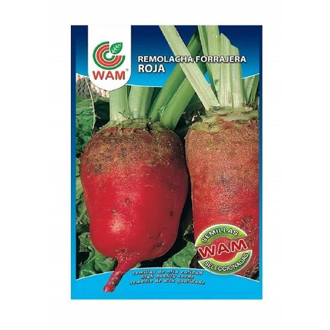 Semillas de Remolacha Forrajera Roja WAM 250 gr