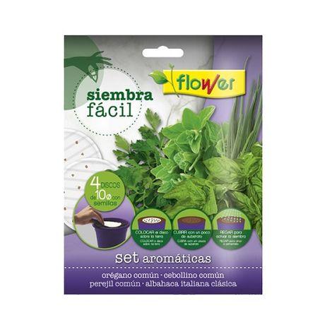 Semillas Siembra Fácil Aromáticas FLOWER - 4 x 10