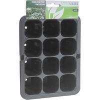 Semillero en bandeja para 12 macetas set de 3 piezas 18.5x14xh5.5cm