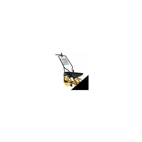 Semoir agricole sur roues avec chassis en acier à 2 bacs