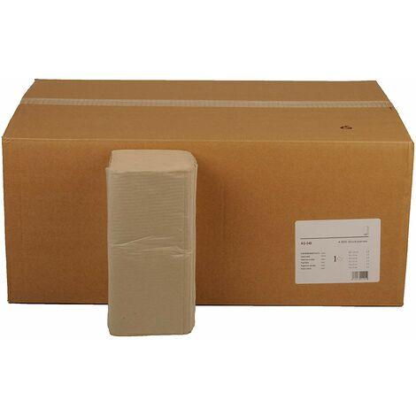 Semy Boîte de 6 paquets de papier essuie-main double épaisseur Pli ZZ/V Gris 25 x 23cm