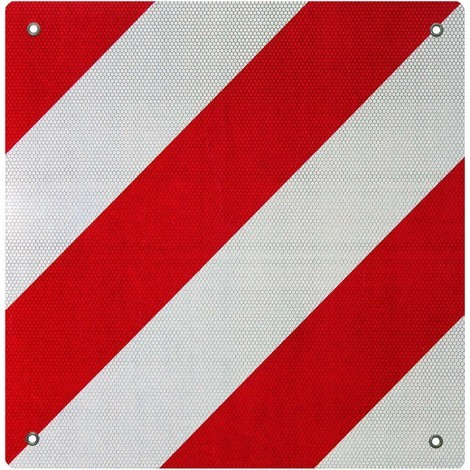 Señal advertencia reflectante España aluminio rojo blanco agujeros 50 x 50 cm