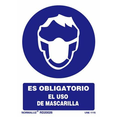Señal Es Obligatorio El Uso de Mascarilla Con Tintas UV