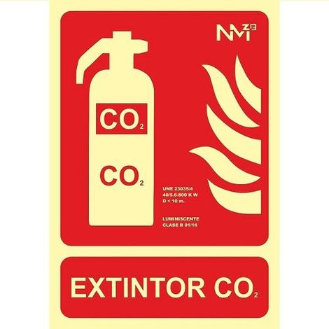 Señal Extintor CO2 Luminiscente