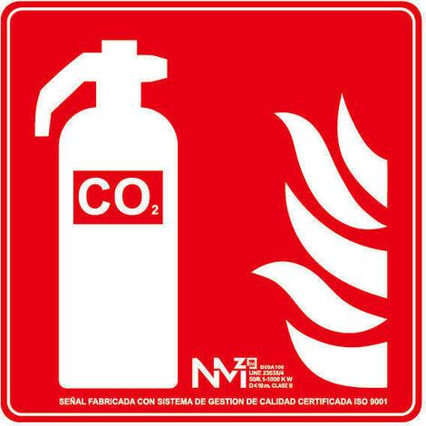 Señal Extintor CO2 (Solo Pictograma) Luminiscente