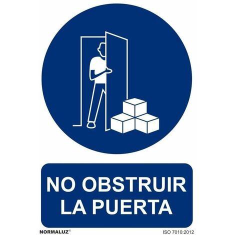 Señal No Obstruir La Puerta Con Tintas UV