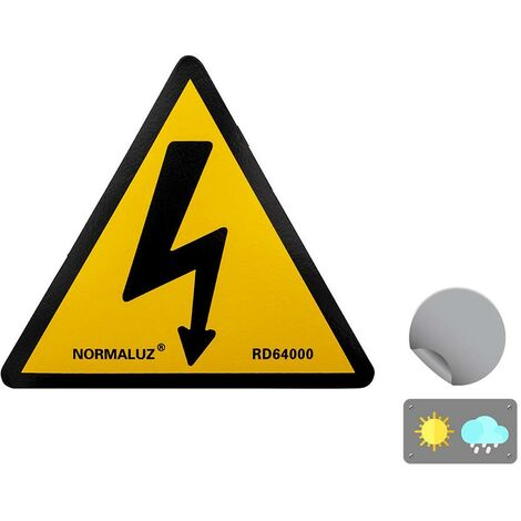 Señal peligro riesgo eléctrico - Señal Eléctrica Triangular Rayo homologada