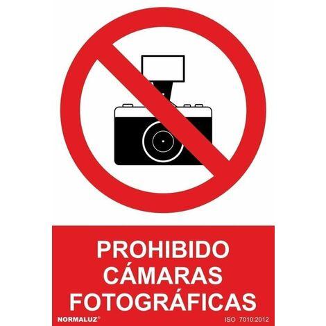 Señal Prohibido Cámaras Fotográficas Con Tintas UV