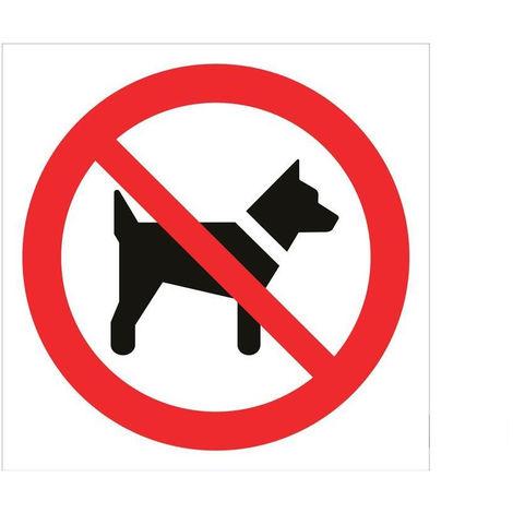 Señal prohibido solo texto - Prohibido perros