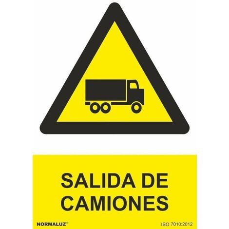 Señal Salida de Camiones Con Tintas UV