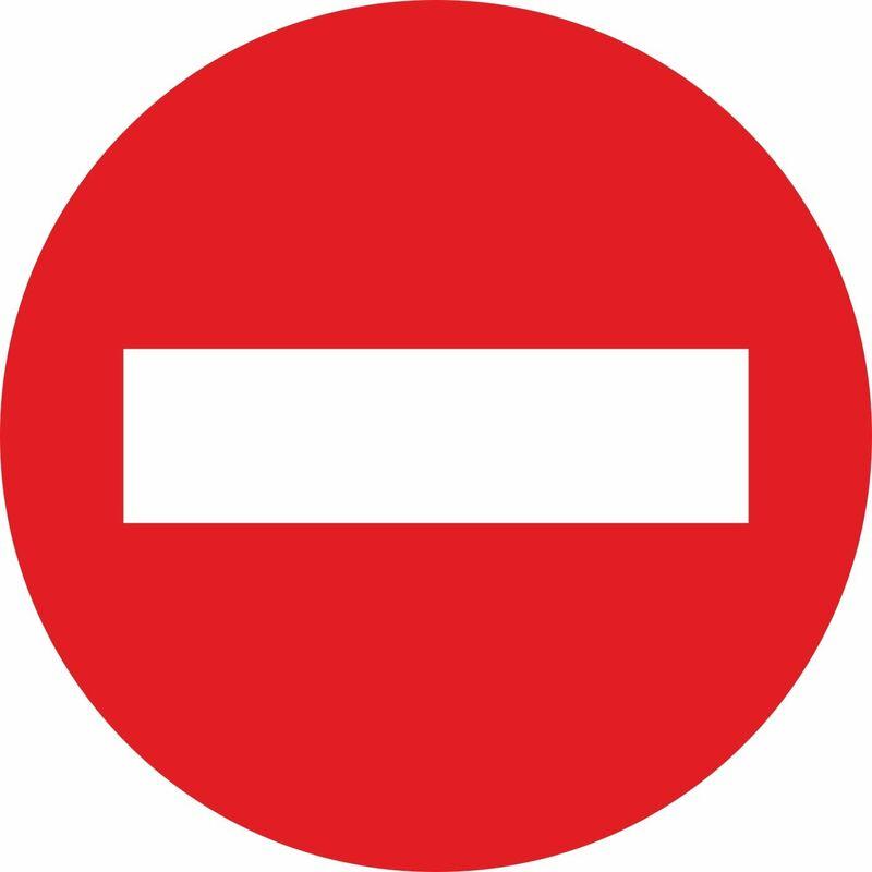 Señal Vial Metálica PROHIBIDO EL PASO Entrada Prohibida Diámetro 500 mm -  V10060