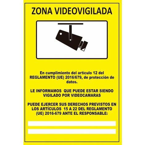 Señal Zona Videovigilada Con Tintas UV