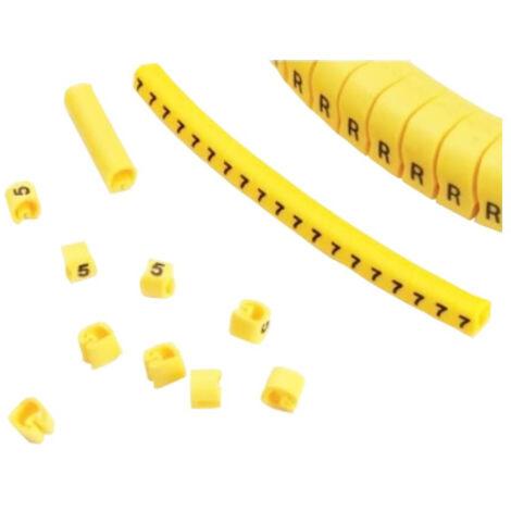 """Señalizadores """"S"""" para cables de 4 a 8mm (Bolsa 100 unidades)"""