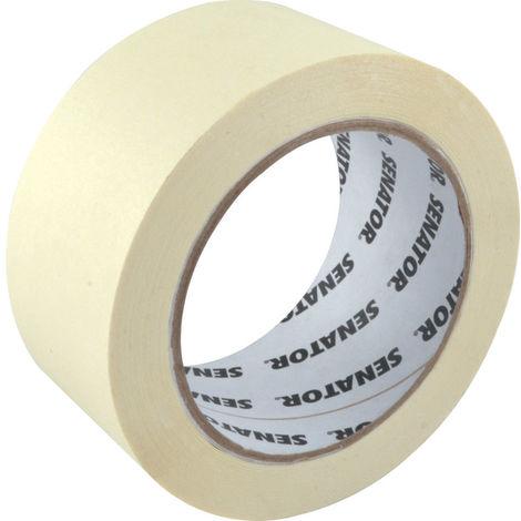Senator Malerkrepp cremeweiß 19mm x 50m temperaturbeständig bis 60 Grad Abklebeband selbstklebend Kreppband