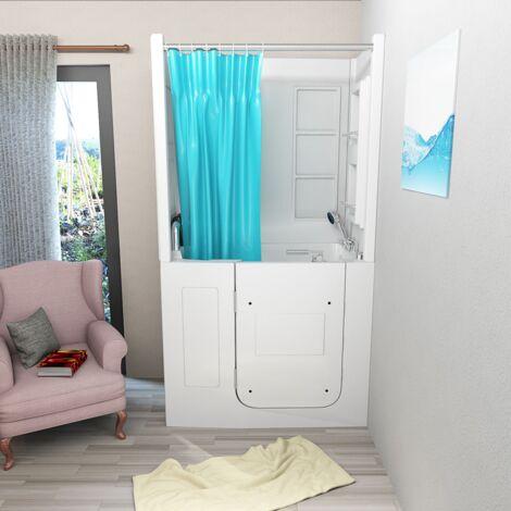 Senioren Dusche Sitzbadewanne Sitzwanne Duschbadewanne mit Tür Pool A108D-C