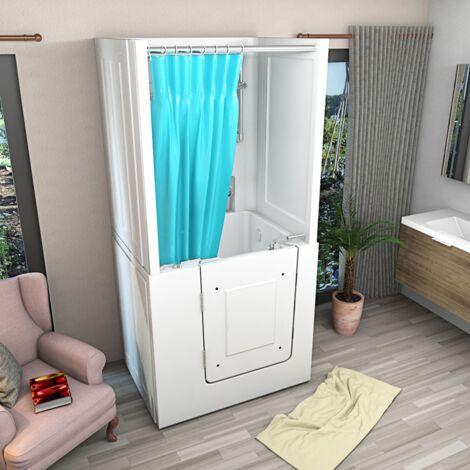 Senioren Dusche Whirlpool Seniorenbadewanne Sitzwanne mit Tür Pool A102D-WP
