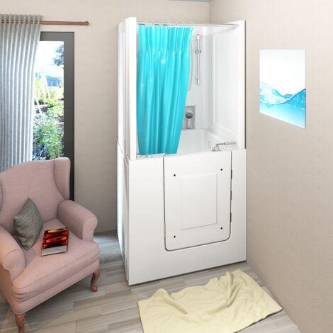 Senioren Dusche Whirlpool Seniorenbadewanne Sitzwanne mit Tür Pool A102D-WP-C